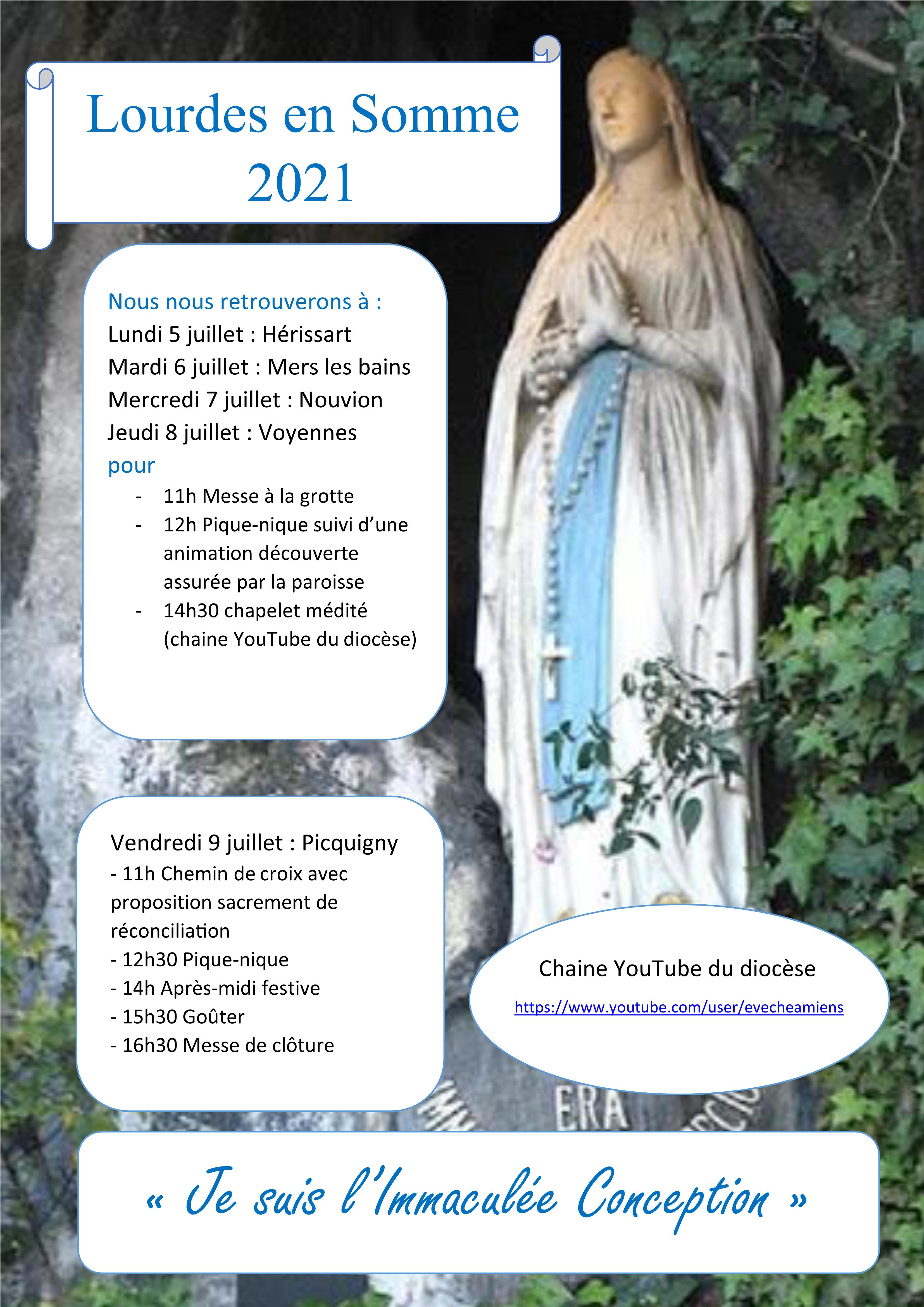 Pèlerinage Lourdes en Somme